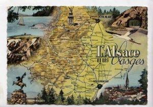 L'Alsace et les Vosges, 1960 used Postcard
