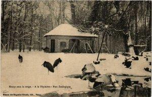 CPA Nancy Sous la neige, a la Pépiniére, Parc Zoologique (680536)