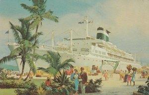 GRACE LINE, 1940-60; 20,000 ton Luxury Ocean Liner Cruise Ship