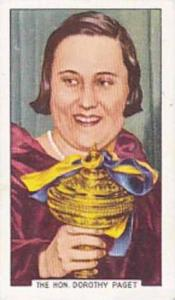 Gallaher Vintage Cigarette Card Sporting Personalities No 48 The Hon Dorothy ...