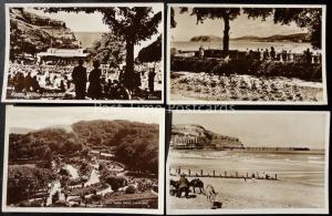 North Wales: Llandudno, Interesting Collection od 4 c1930's RP Postcard