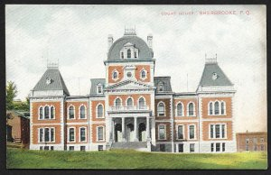 Court House Sherbrooke PQ CANADA Used c1910s