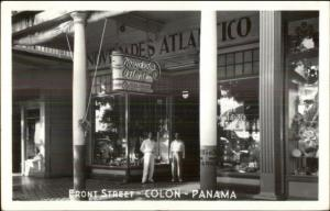 Colon Panama Novedades Atlantico Front St. Real Photo Postcard USED COVER