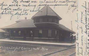 RP: CHERRYVALE , Kansas , 1907 FRISCO Railroad Train Depot