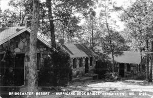 Versailles Missouri Bridgewater Resort Real Photo Antique Postcard K46673