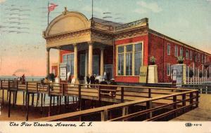 Arverne Long Island New York The Pier Theatre Antique Postcard J56156