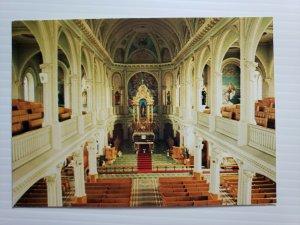 VTG Postcard Interier de I'eglise Saint-Pierre Cheticamp Cabot Trail Breton  393