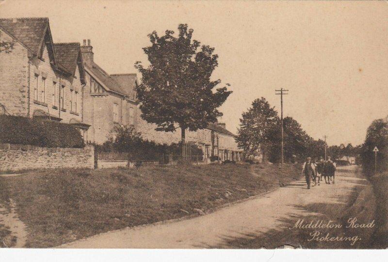 PICKERING , Yorkshire, England , 1921 ; Middleton Road