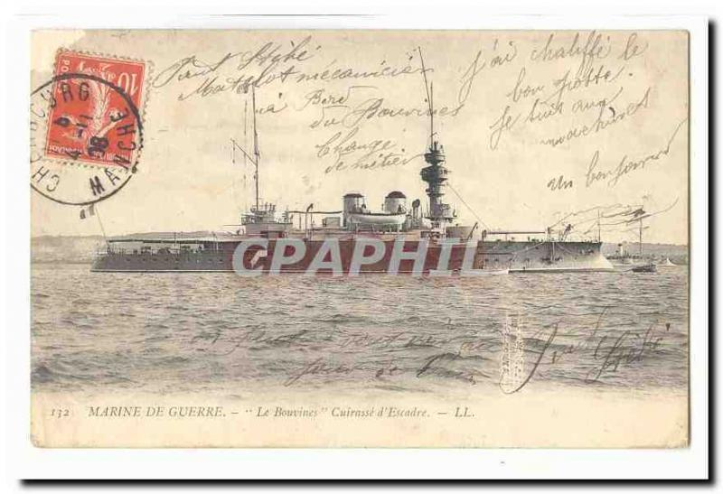 Navy Vintage Postcard Bouvines Armours squadron (boat ship boat)