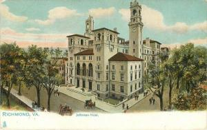 Autos C-1910 Jefferson Hotel Richmond Virginia Tuck undivided postcard 10770