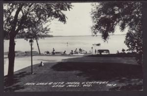 Rock Lake at Setz Motel,Lake Mills,WI Postcard