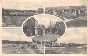 Alnmouth, The Beach From Church Hill Main Street Promenade Panorama