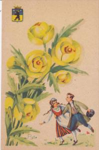 AS: Couple dancing, Yellow flowers, 00-10s