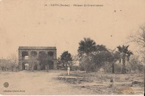 Sudan Kayes government building 1918 postcard