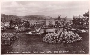 A Devonshire Garden Daily Mail Ideal Home Exhibition 1931 RPC Postcard