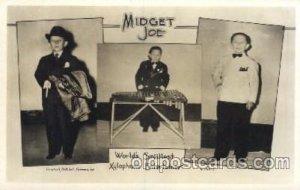 Midget Joe, Worlds Smallest Xylophone Entertainer, Smallest Person, Midget, C...
