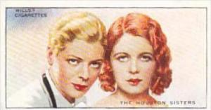 Wills Cigarette Card Radio Personalities 2nd Series No 49 Houston Sisters