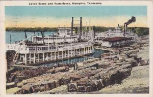 Levee scene and waterfront, Memphis, Tennessee, PU-1930