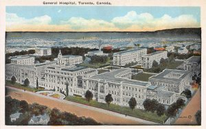 General Hospital, Toronto, Canada, Early Postcard, Unused