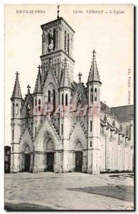 Old Postcard Cerisay L & # 39Eglise