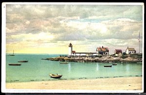 USA Postcard Annisquam Lighthouse Gloucester Mass. PM 1910