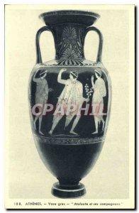 Postcard Ancient Greek Vase Atalanta Athens and Greece Companions