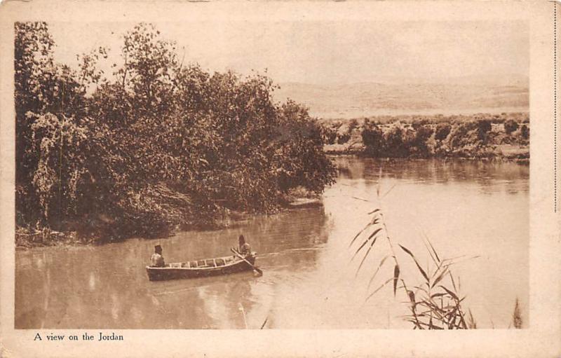 A view on the Jordan, boat, gondola