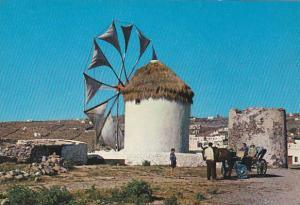 MYCONOS ISLAND, Wind-Mill, Greece, 50-70s