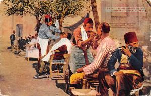 Turkey Egypt, Egypte, Africa Turkish Barber Shop Constantinople Turkey Turkis...