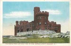 Newport Rhode Island~Governor Charles Warren Lippitt Castle From Cliff Walk~1920