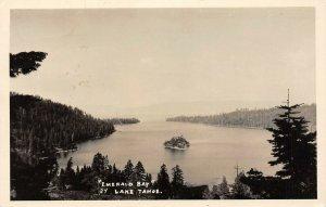 LP77  California RPPC  Postcard  Emerald Bay Lake Tahoe