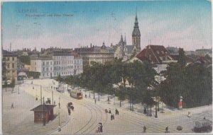 Leipzig Germany OLD THEATER on FLEISCHERPLATZ 1910s