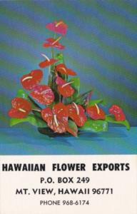 Hawaii Mount View Hawaiian Flower Exports