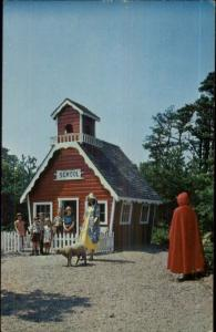 Storyland Amusement Park Cape Cod MA Hyannis - School House Postcard