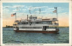 Steamer Ship Miss Vandenberg - Ferry Boat to Ogdensburg Prescott Ontario PC