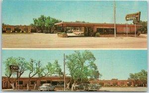 Eden, Texas Postcard MOROCCO MOTEL & Restaurant Highway 87 Roadside c1950s