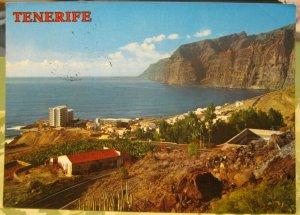 Spain Tenerife Playa de Los Gigantes Vista General - posted 1984