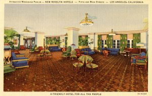 CA - Los Angeles. New rosslyn Hotels, Mezzanine Parlor