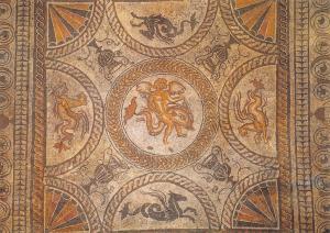 Postcard Fishbourne Roman Palace Sussex Past #D2137