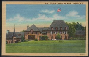 North Carolina colour Country Club Club House, Asheville, N.C unused