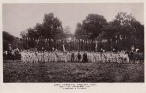 Pikemen Cavaliers at the Battle Of Lansdowne 1909 Bath Pageant RPC Postcard