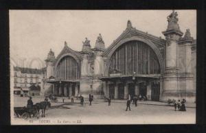 058735 FRANCE Tours La Gare RAILWAY STATION Vintage PC