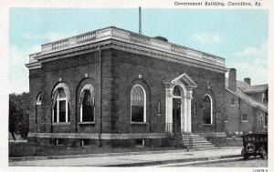 Kentucky Ky Postcard c1940 CARROLLTON Government Building