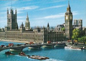 England London The Houses Of Parliament and River Thames
