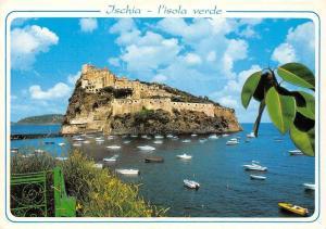 Italy Ischia L'Isola Verde Aragonese Castle Castello Chateau Bateaux Boats
