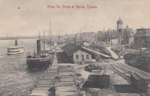 SARNIA , Ontario, Canada, 1905 ; Along the Docks