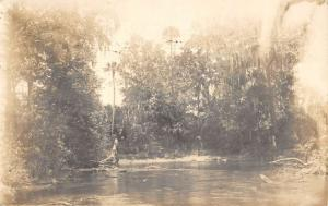 Orange Grove Florida Scenic Waterfront Real Photo Antique Postcard KA688522