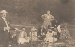 RP: SOUTH POLAND , Maine , 1908 ; Cookout on beach