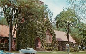 Simsbury CT~Simsbury Methodist Church~1960 Postcard