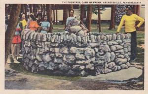 Pennsylvania Arendtsville The Fountain Camp Nawakwa 1949